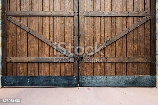Wooden gate texture background