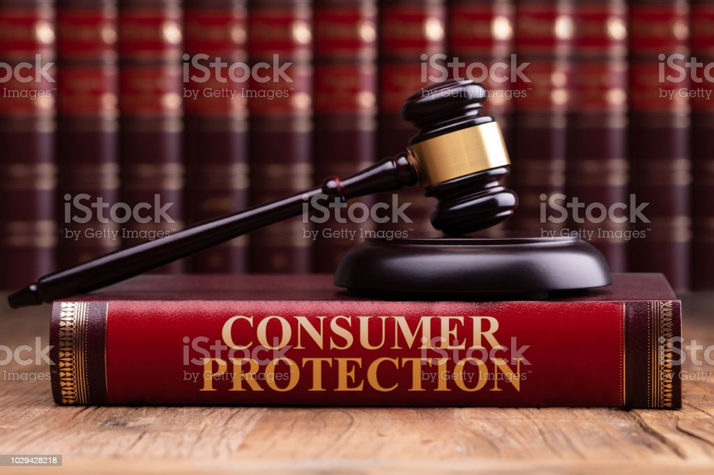 Wooden Gavel And Soundboard On Consumer Protection Law Book - Royalty-free Book Stock Photo