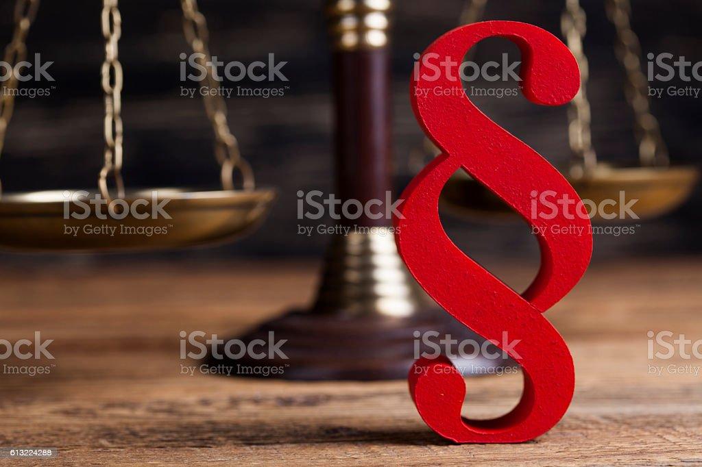 Hölzerne Richterhammer barrister, Justiz-Konzept, Absatz – Foto