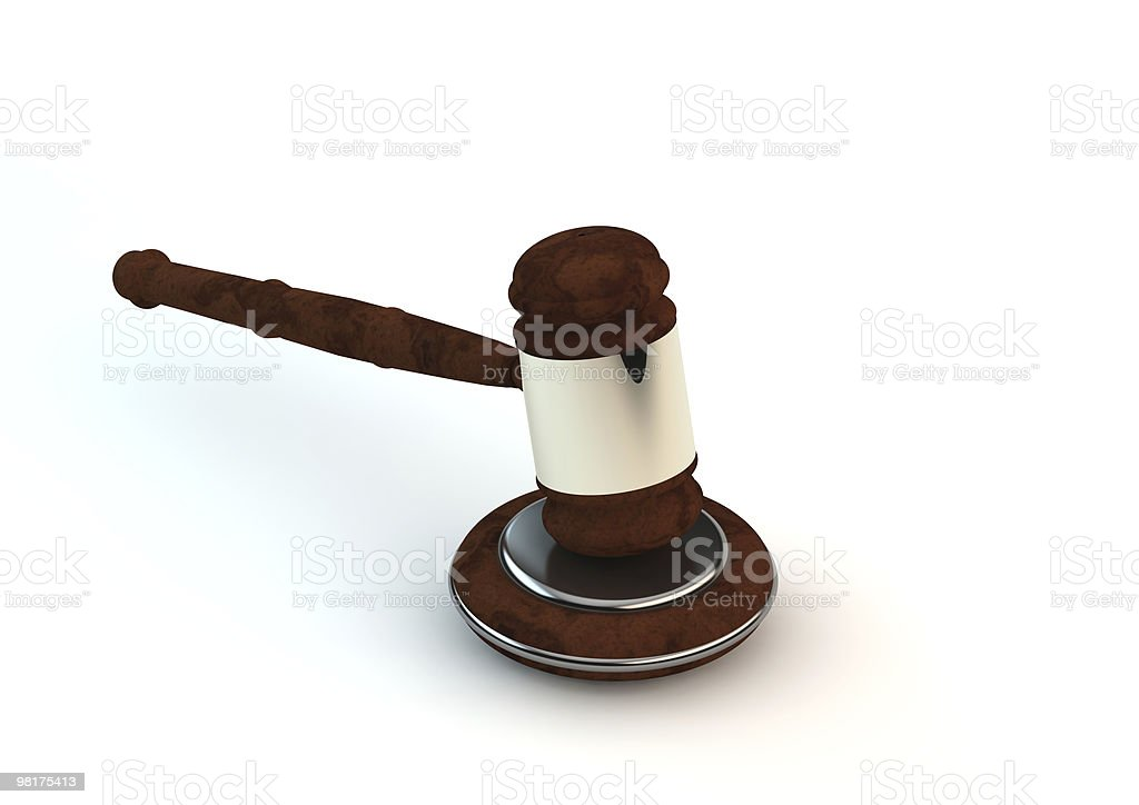 Wooden Gavel royalty-free stock photo