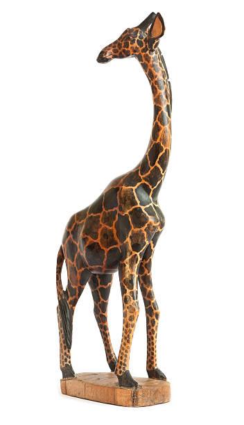 Wooden Giraffe stock photo