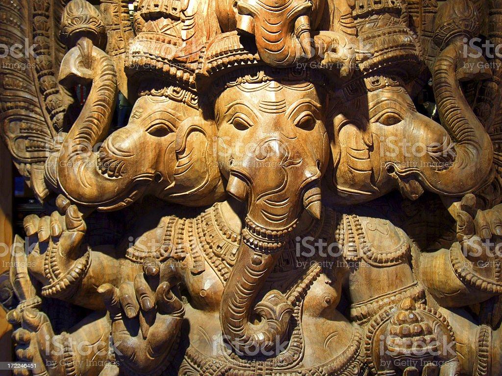Wooden gods royalty-free stock photo