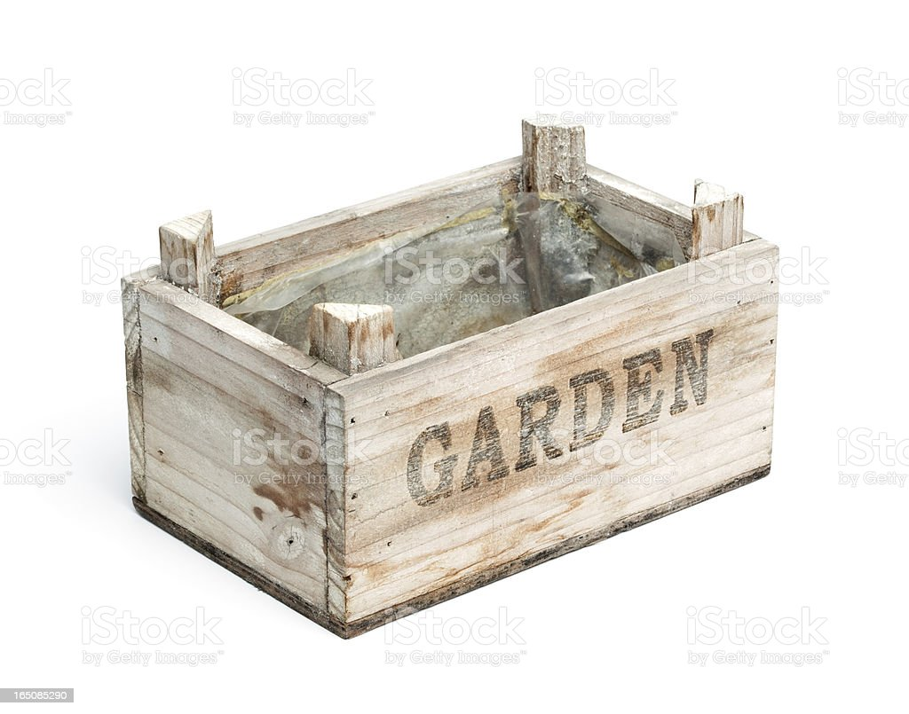 Wooden Graden Crate royalty-free stock photo
