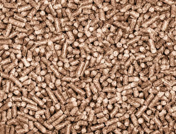 wooden granules - desperdício alimentar imagens e fotografias de stock