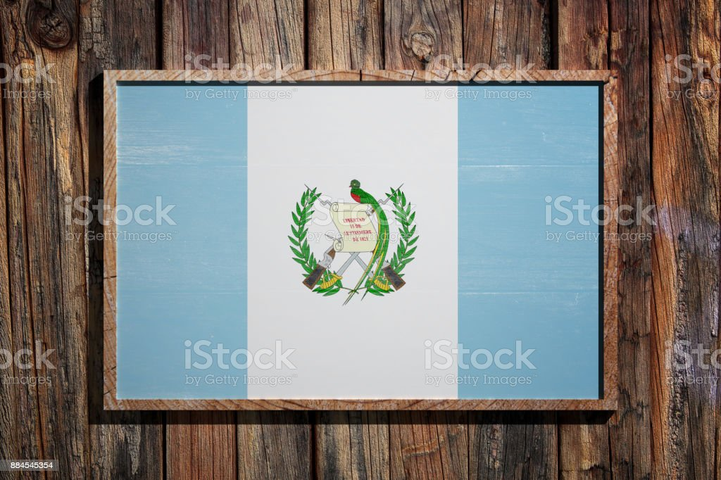 Bandera de Guatemala madera - foto de stock