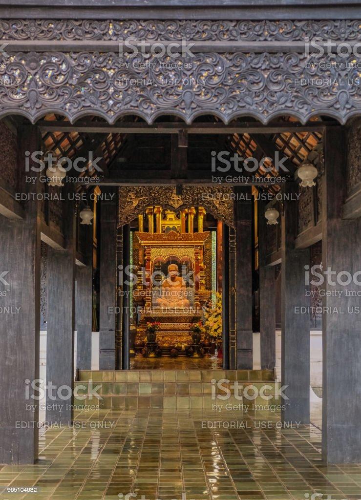 Wooden hall in temple zbiór zdjęć royalty-free