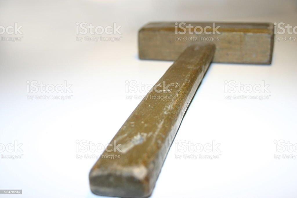 wooden hammer close up royalty-free stock photo
