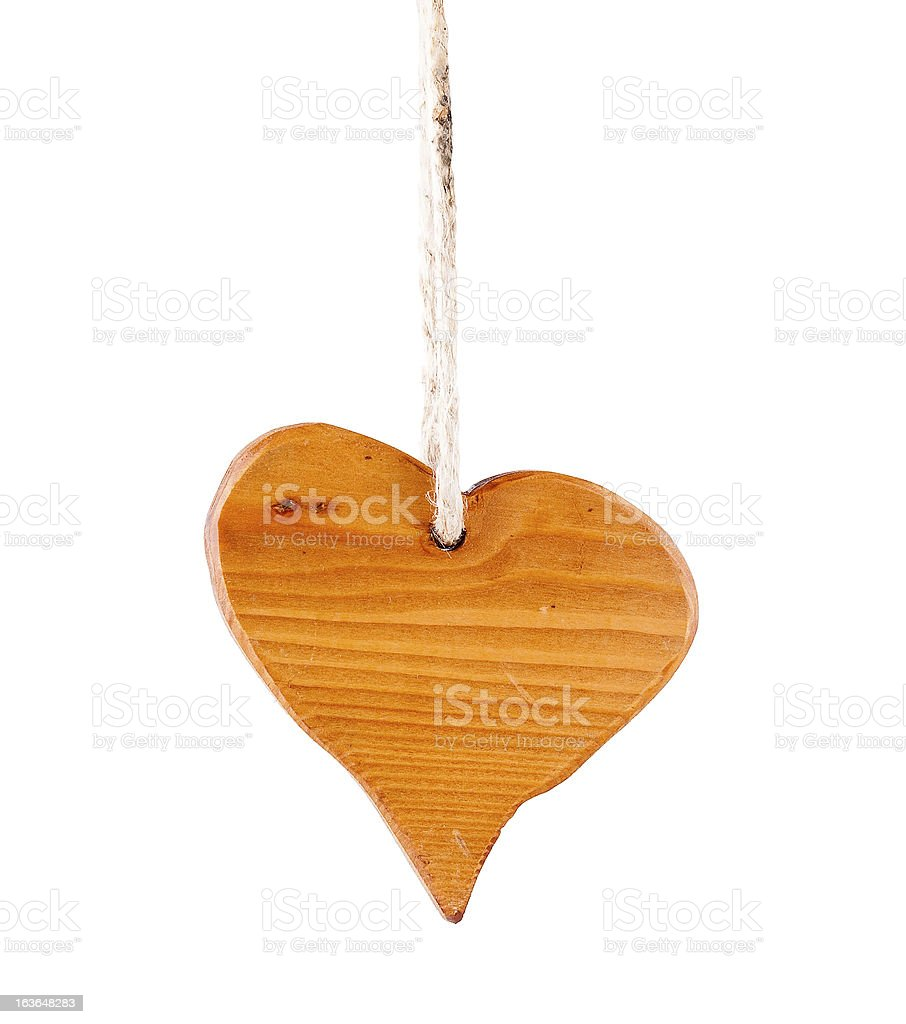 Wooden heart royalty-free stock photo