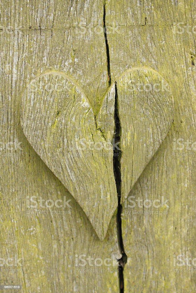 Coração de madeira foto royalty-free