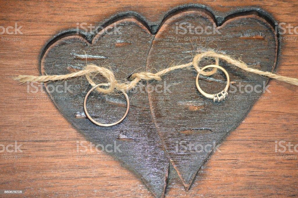 Wooden Hearts stock photo