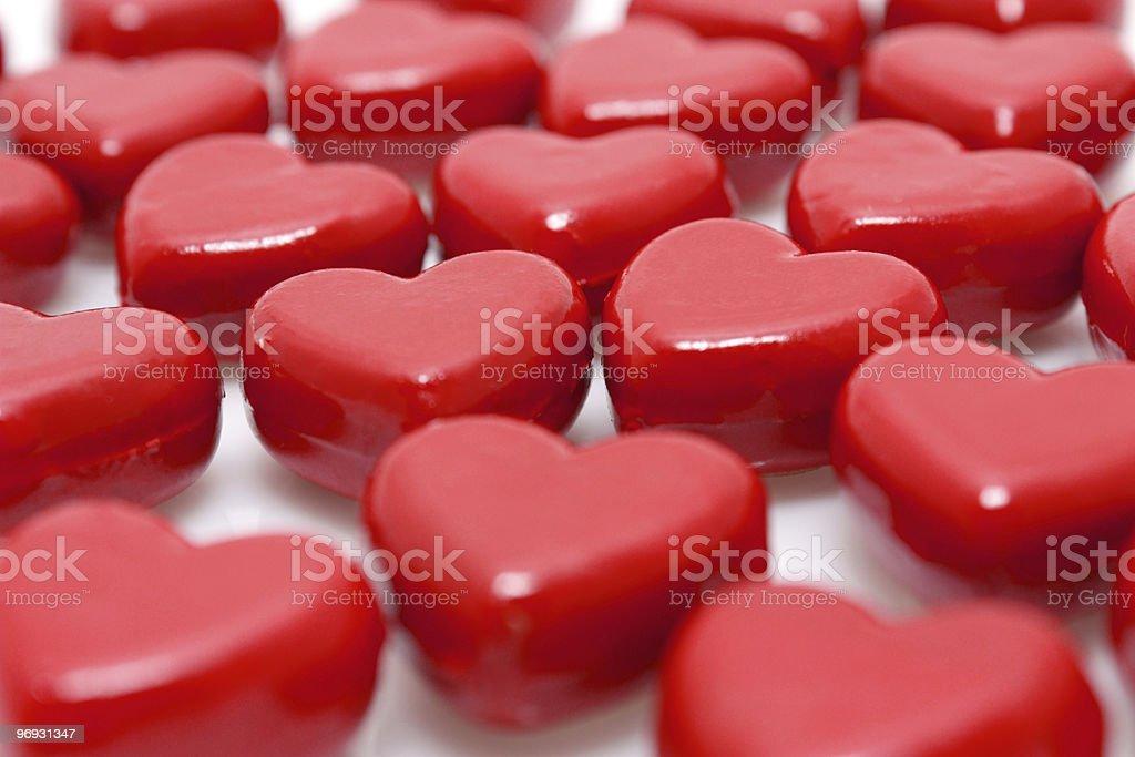 Wooden hearts royalty-free stock photo