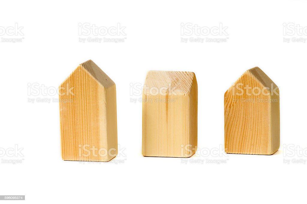 wooden home building blocks royalty-free stock photo