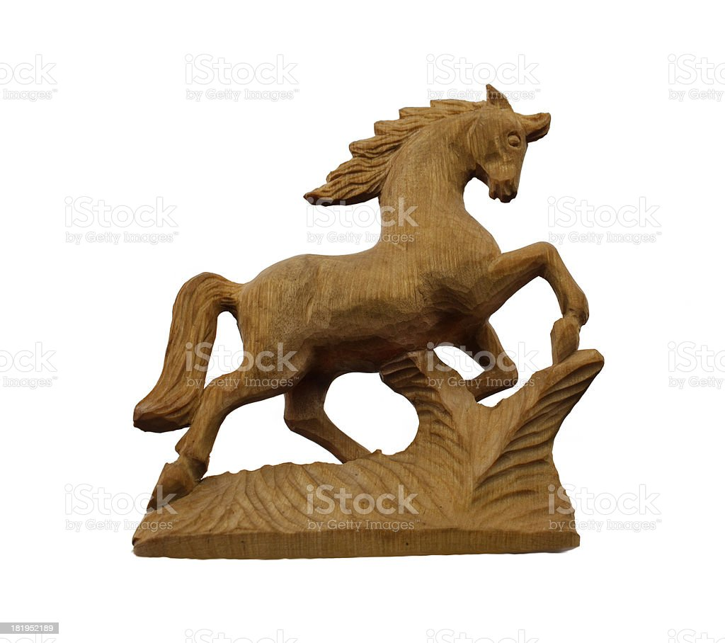 wooden horse royalty-free stock photo