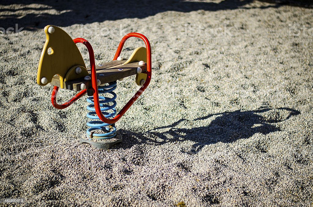 wooden Horse Ride stock photo