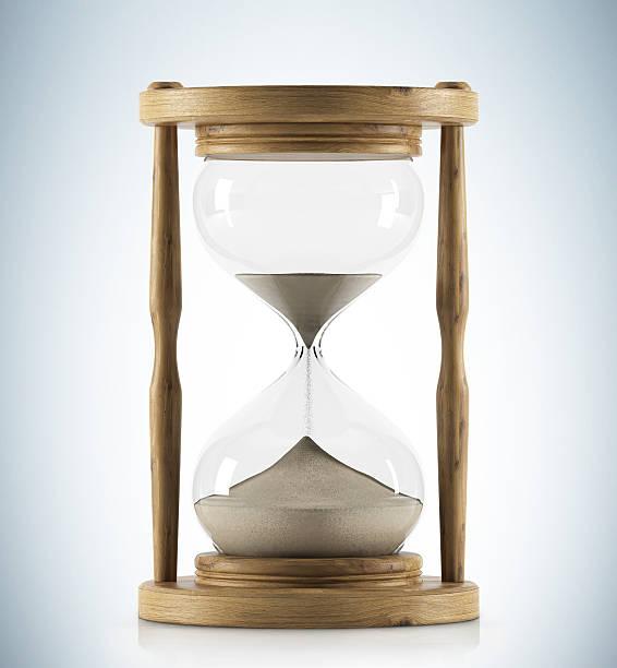 Madera hora de vidrio - foto de stock