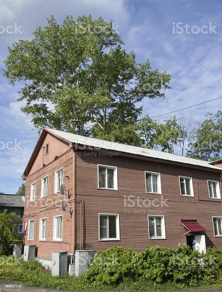 압살했다 하우스 도시 royalty-free 스톡 사진