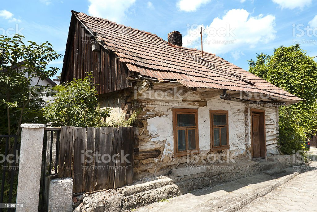 wooden house in the countryside royalty-free stock photo