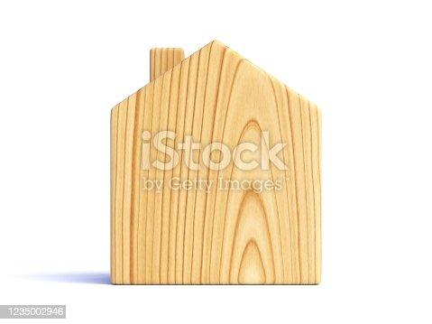 902034612 istock photo Wooden house isolated on white background 1235002946