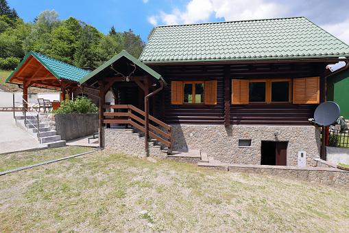 Beautiful wooden house in Gorski Kotar County, Croatia