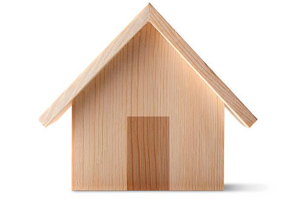 wooden house - holzfiguren stock-fotos und bilder