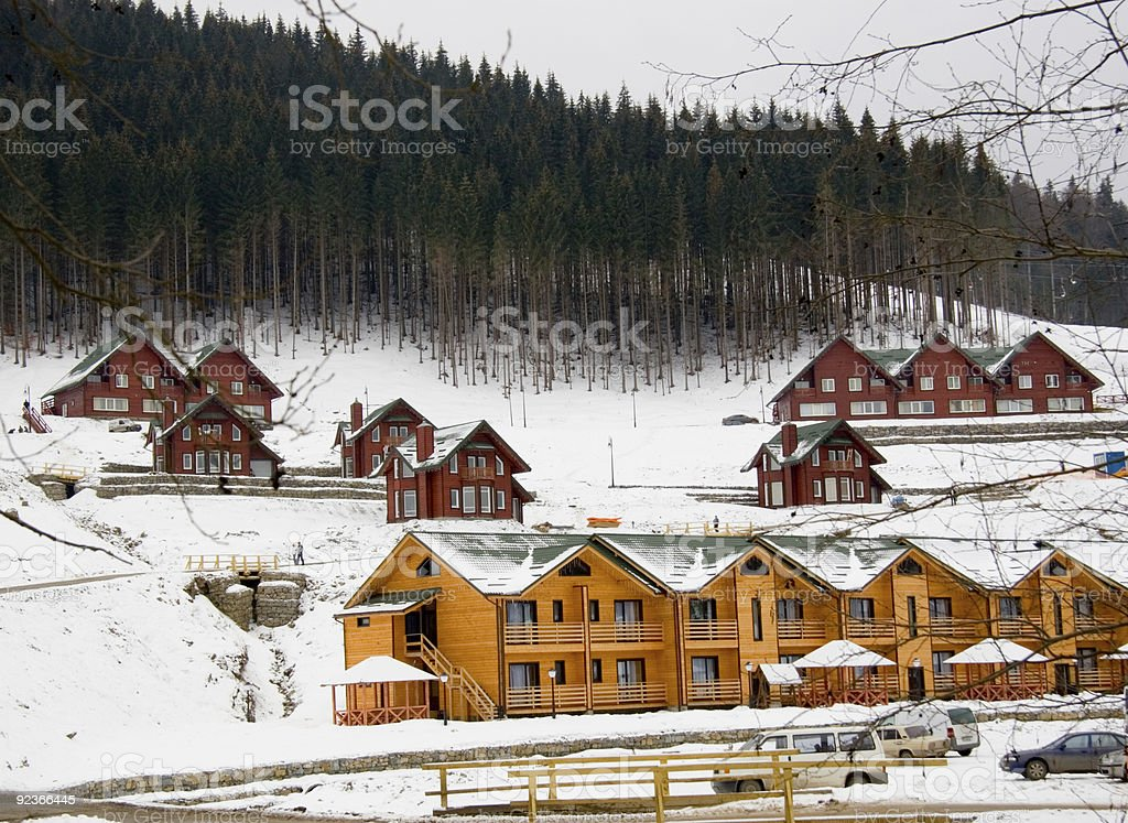 Wooden houses royalty-free stock photo