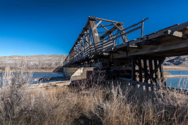 Wooden Howe Truss Bridge At East Coulee Stock Photo More Pictures