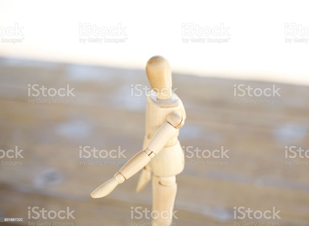 Wooden human stock photo