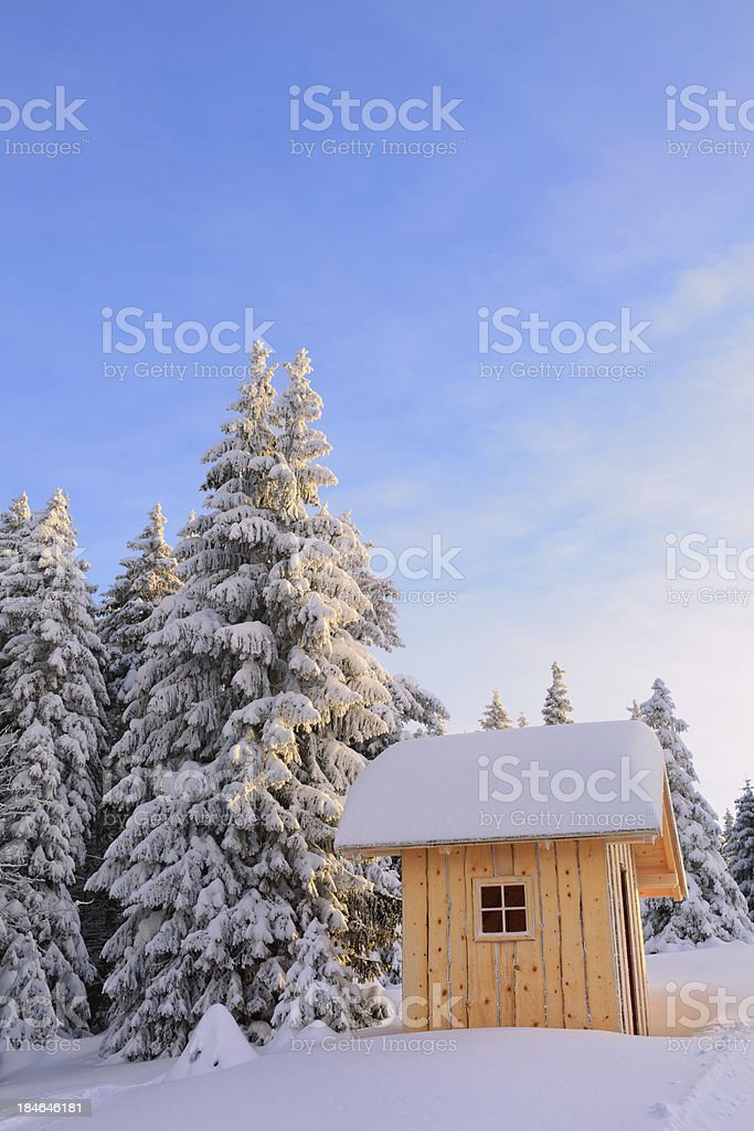 Wooden Hut royalty-free stock photo