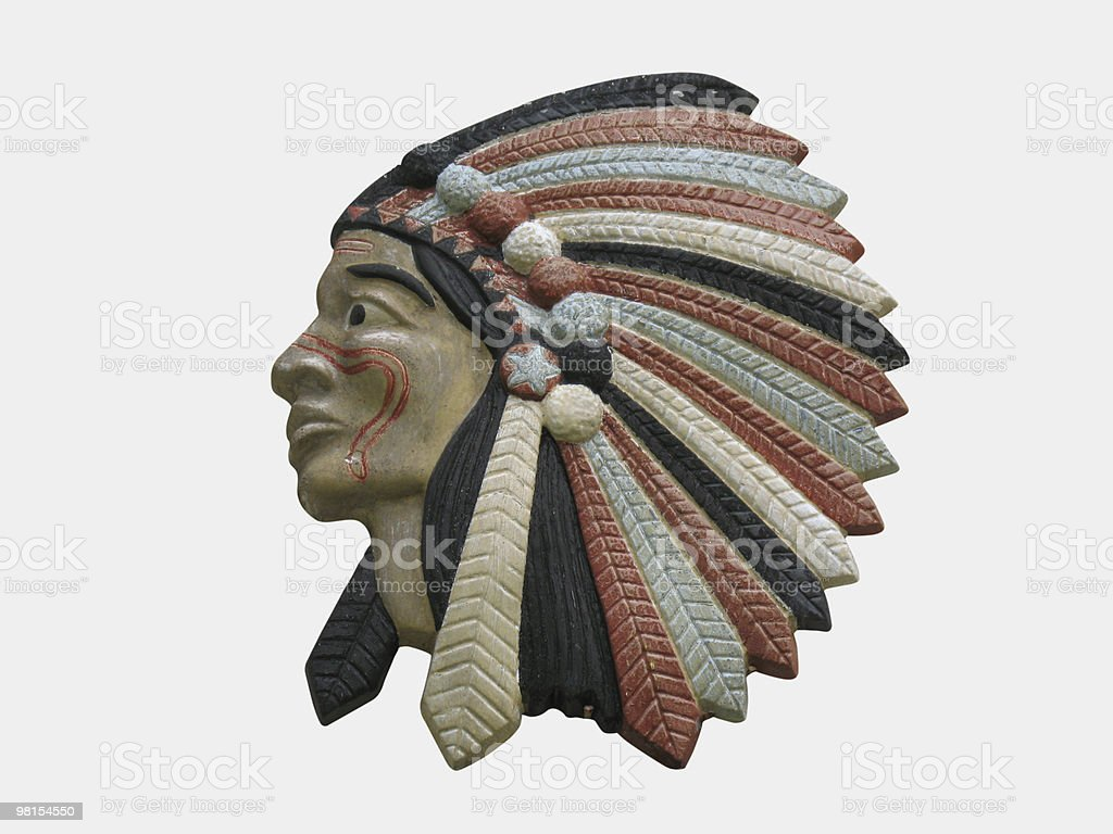 Wooden Indian Carving royalty-free stock photo