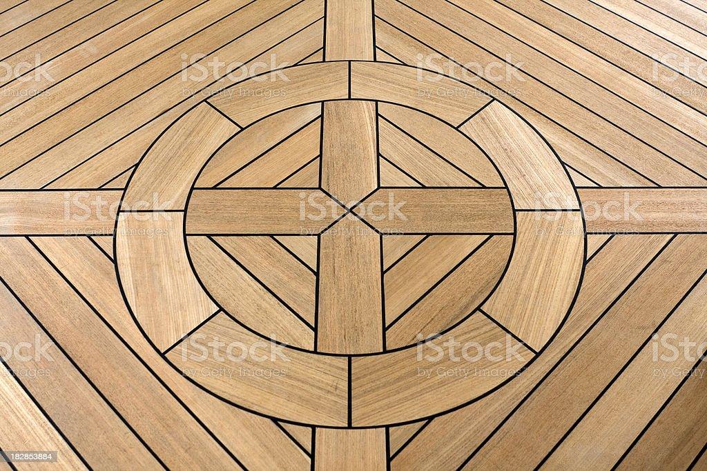 Wooden inlaid floor stock photo