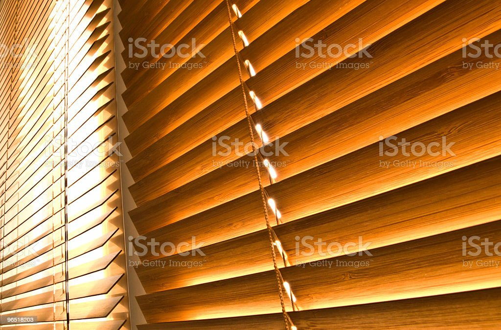 Wooden jalousie royalty-free stock photo
