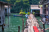 Old Wooden jetty in the village Of Koh Kood Island