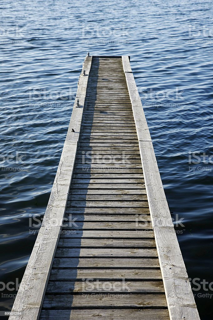 Wooden jetty royalty-free stock photo