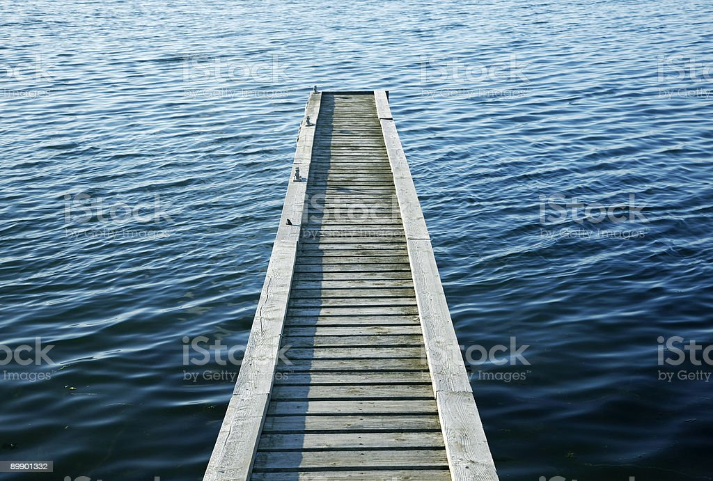 Wooden jetty royalty free stockfoto