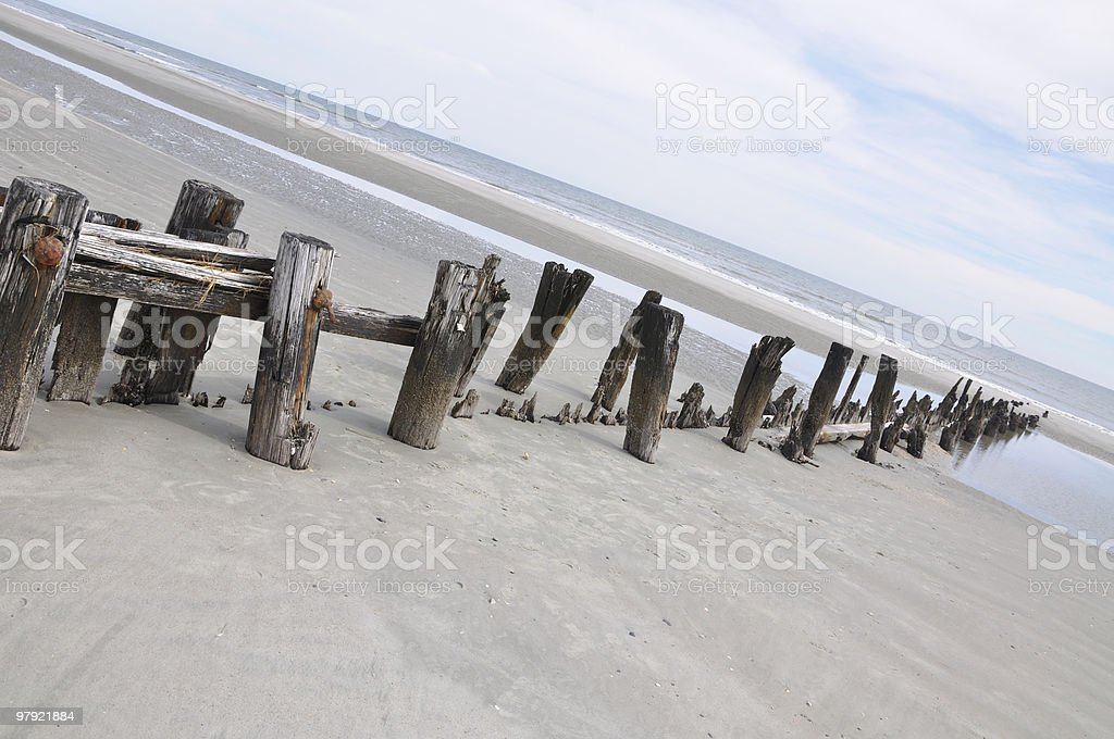 Wooden Jetty to Ocean royalty-free stock photo