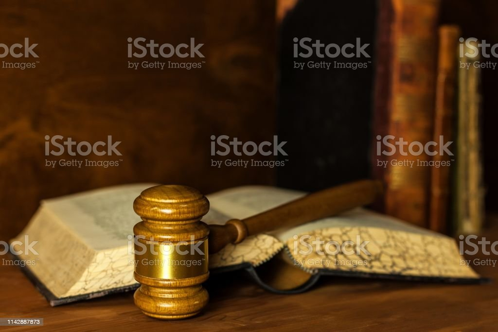 Wooden Judge Gavel Closeup View Judges Gavel On Table Law ...