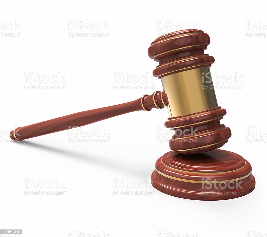 wooden Judge gavel. royalty-free stock photo