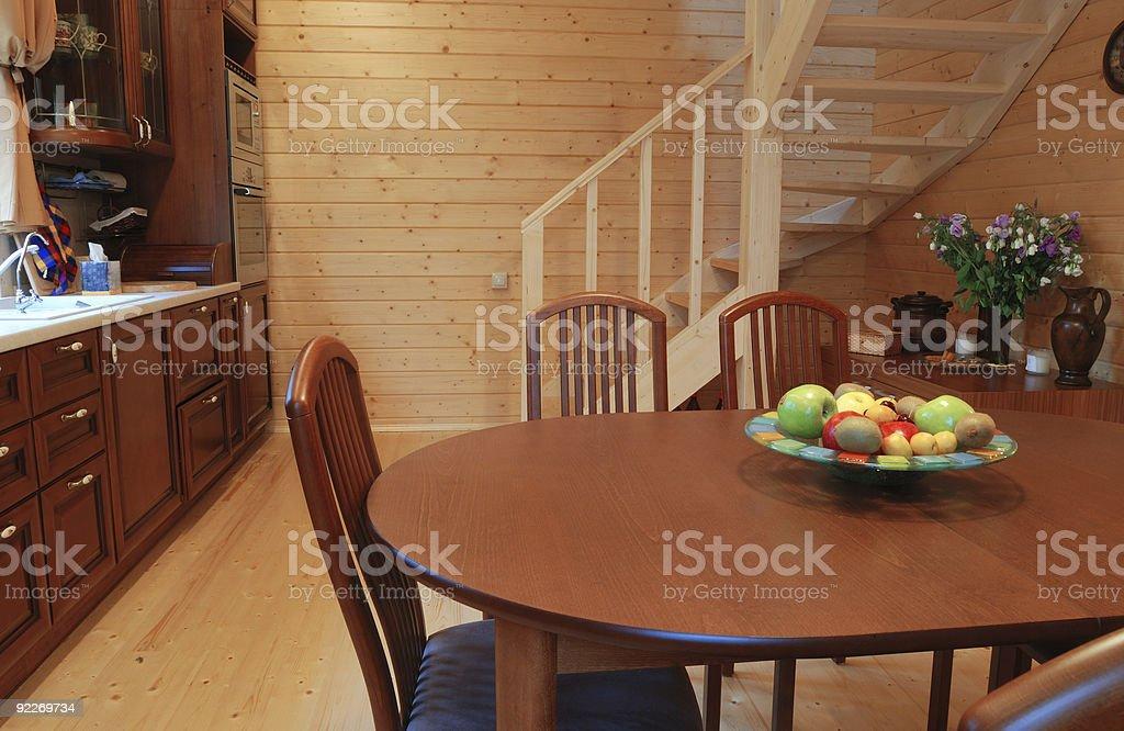 Wooden kitchen stock photo