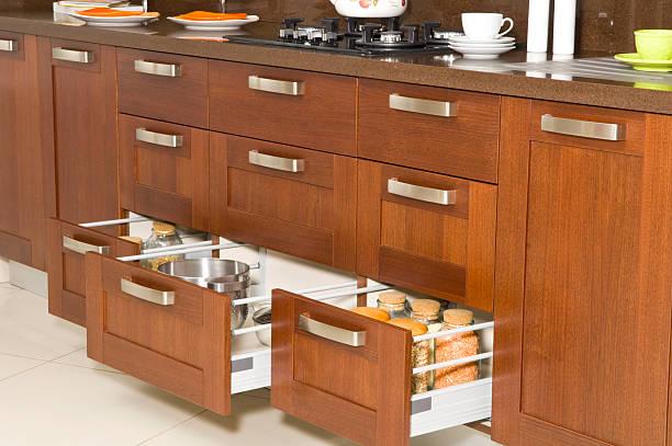 küche der schublade - küchenorganisation stock-fotos und bilder
