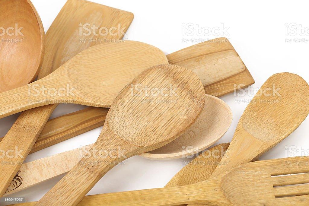 Wooden kitchen utensils. royalty-free stock photo