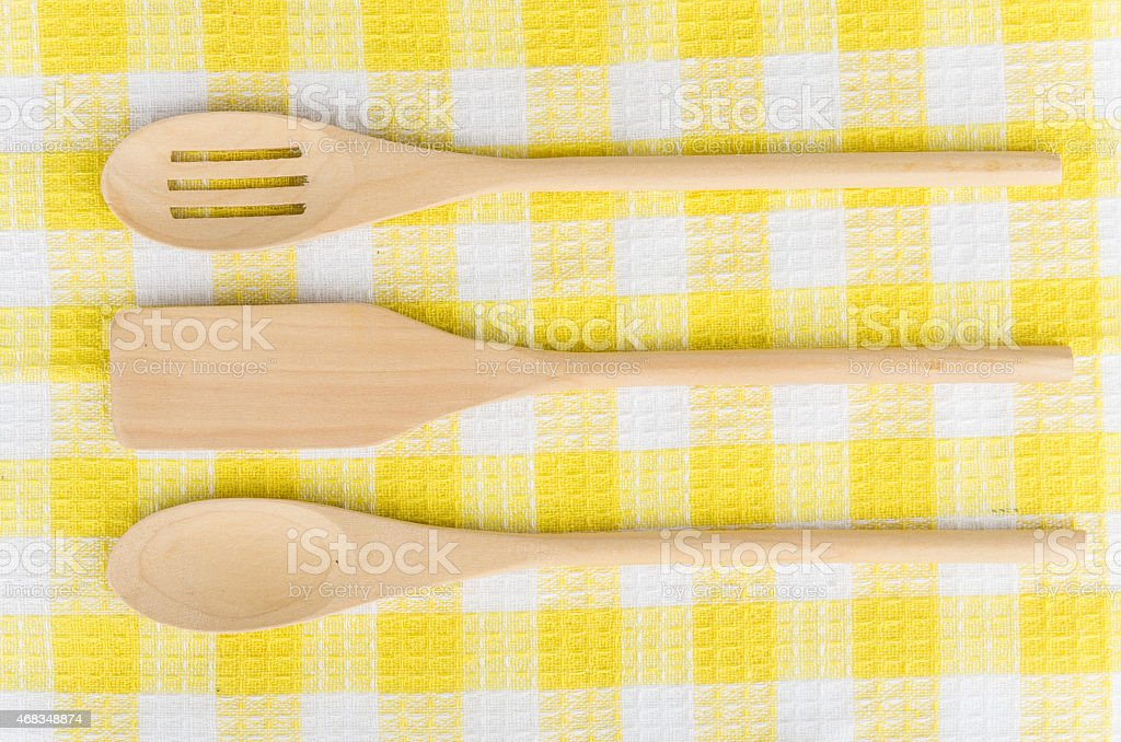 Wooden kitchen utensils royalty-free stock photo
