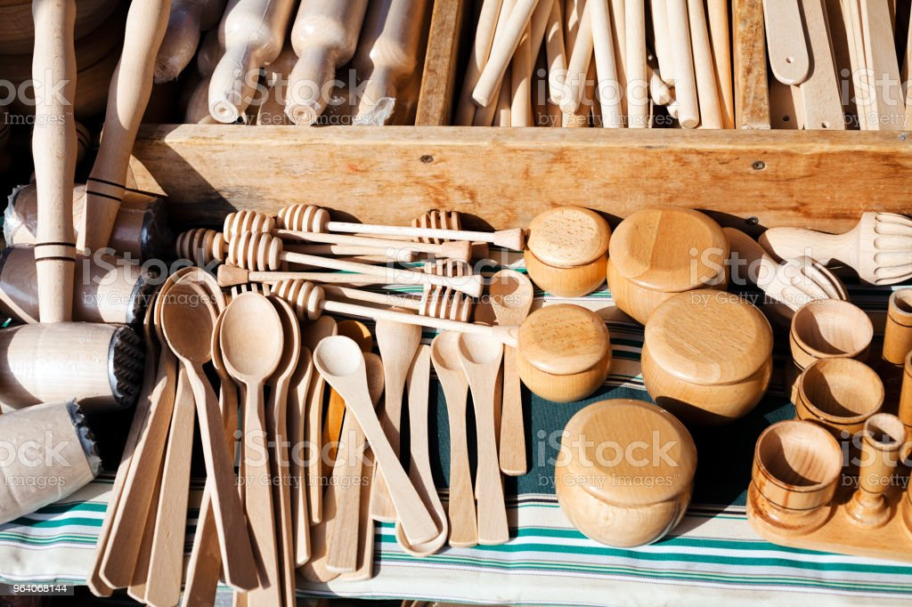 wooden kitchen utensils - Royalty-free Baking Stock Photo