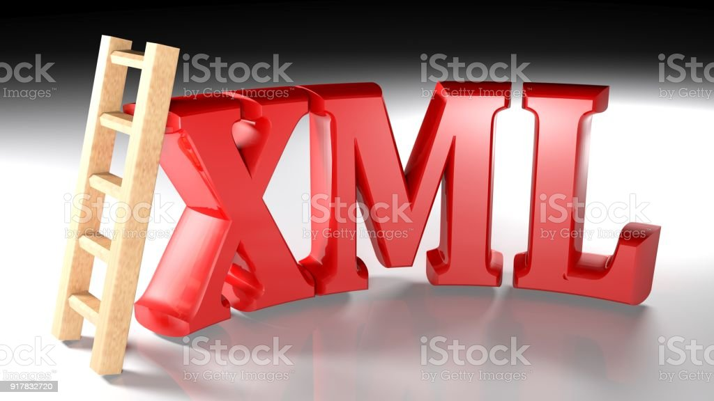 Wooden Ladder At Xml Red Write 3d Rendering Stock Photo Download