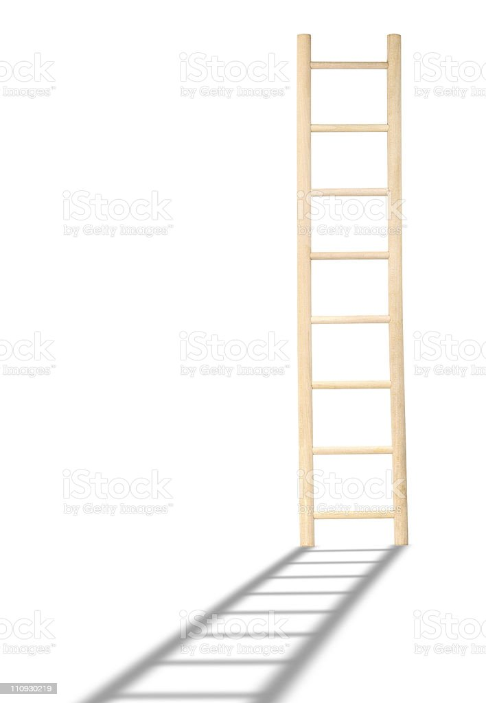 Wooden Ladder stock photo