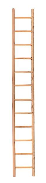 wooden ladder - ladder stockfoto's en -beelden