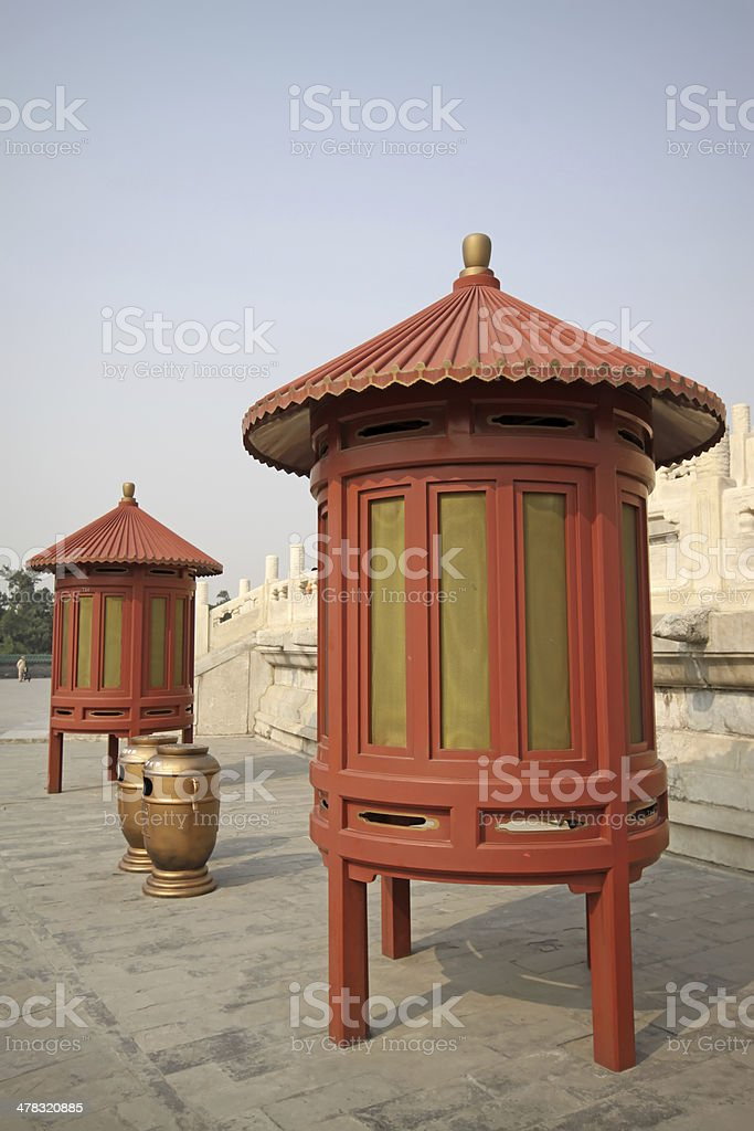 wooden lamps stock photo