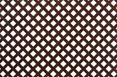 Wooden lattice, isolated on white background