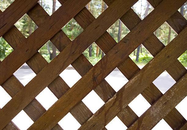 Celosía de madera. - foto de stock