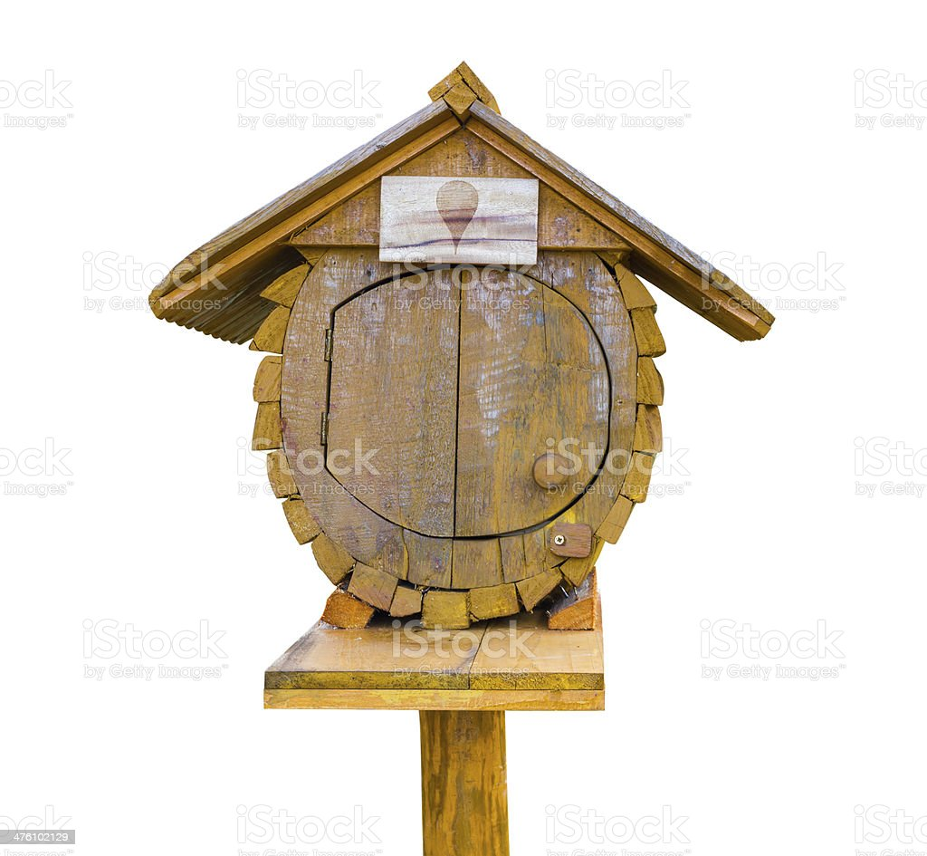 Wooden letter box royalty-free stock photo