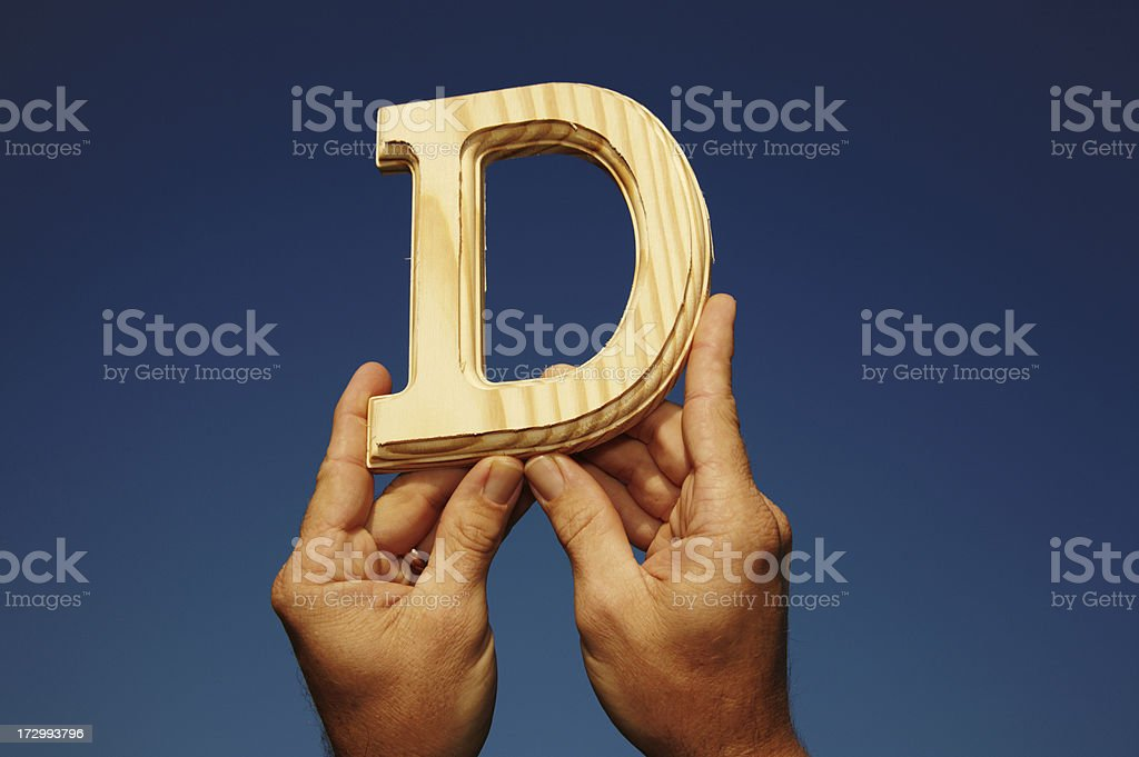 Wooden Letter D royalty-free stock photo